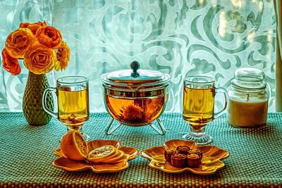 Photograph - Tea And Lemon by Lilia D