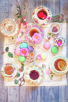 Photograph - Tea And Macaron Party by Susan Gary