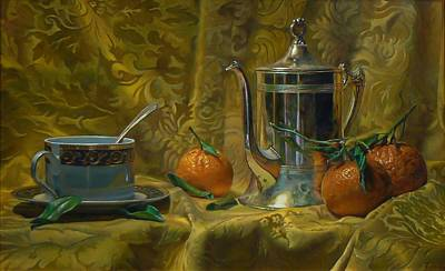 Tea And Oranges Art Print by Jeffrey Hayes
