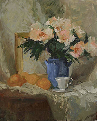 Painting - Tea And Roses by Betty Jean Billups
