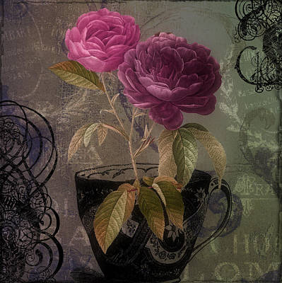 Roses Royalty-Free and Rights-Managed Images - Tea and Roses II by Mindy Sommers