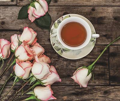 Photograph - Tea And Roses by Kim Hojnacki