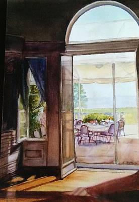 Slider Painting - Tea At Eiola by Katherine  Berlin