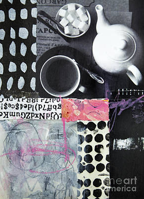 Mixed Media - Tea At Garcon by Elena Nosyreva