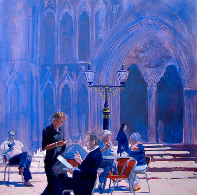 Believe Painting - Tea At York Minster by Neil McBride