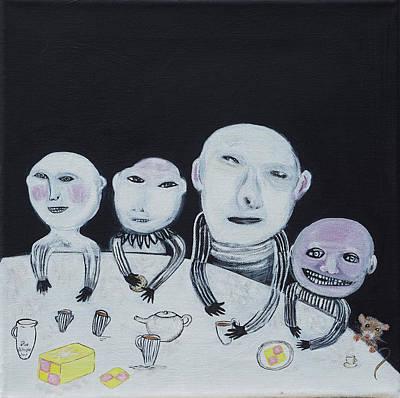 Teapot Painting - Tea Break by Sue Wright