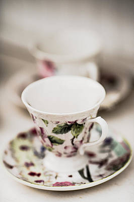 Roaring Red - Tea Cups #2 by Rebecca Cozart