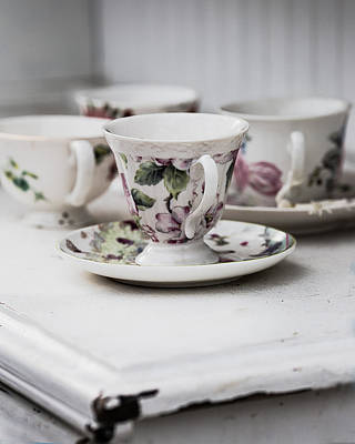Photograph - Tea Cups #3 by Rebecca Cozart