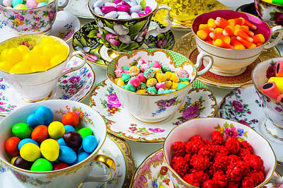 Tea Cups Full Of Candy Art Print
