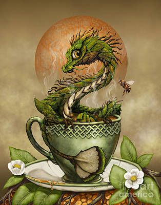 Green Digital Art - Tea Dragon by Stanley Morrison
