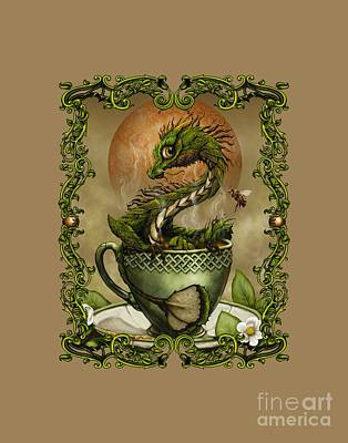 Digital Art - Tea Dragon T- Shirt by Stanley Morrison