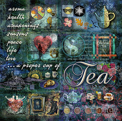 Digital Art - Tea by Evie Cook