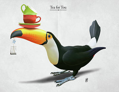 Digital Art - Tea For Tou by Rob Snow