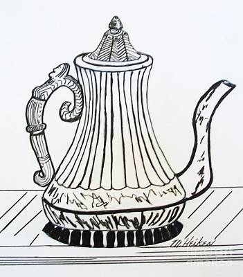 Teapot Drawing - Tea For Two by Marsha Heiken