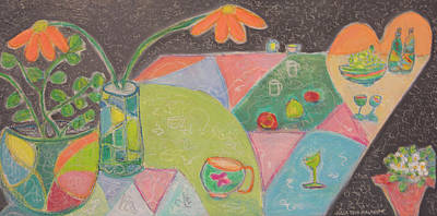 Mixed Media - Tea For Two by Paper Jewels By Julia Malakoff