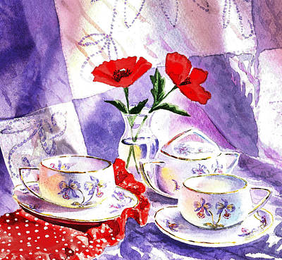 Painting - Tea For Two Vintage Style by Irina Sztukowski