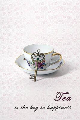 Tableware Photograph - Tea Is Happiness by Joana Kruse