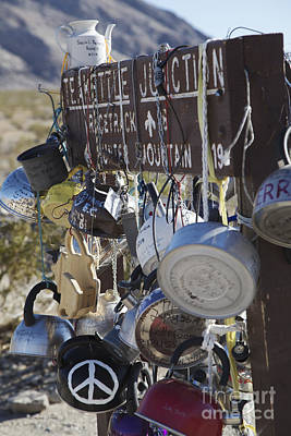 Teakettles Photograph - Tea Kettles On Signpost At Teakettle Junction by Gordon Wood