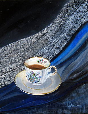 Painting - Tea, Lace, Silk, Linen by LaVonne Hand