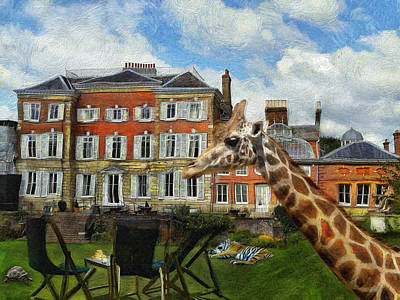 Digital Art - Tea On The Lawn by Leigh Kemp