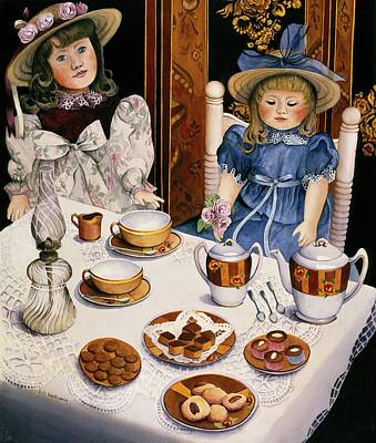 Tea Party Painting - Tea Party by Carol VonBurnum