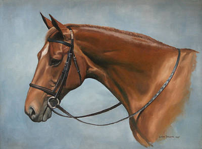 Chestnut Horse Painting - Tea Party by Linda Tenukas