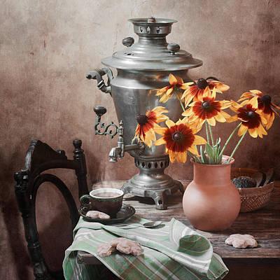 Samovar Photograph - Tea Party by Nikolay Panov