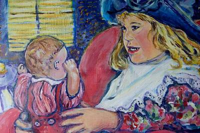 Psychiatry Painting - Tea Party by Susan Brown    Slizys art signature name