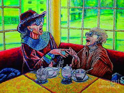 Tea Party Art Print by Viktor Lazarev