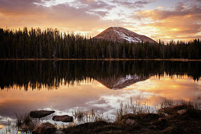 Photograph - Tea Pot Lake Sunset by Johnny Adolphson