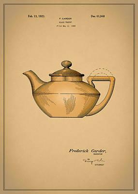 Grinders Photograph - Tea Pot Patent 1923 by Mark Rogan