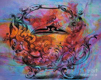 Nursery Rhyme Mixed Media - Tea Pot by Tammera Malicki-Wong