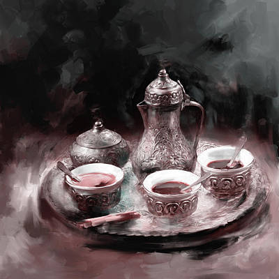 Tea Pot Painting - Tea Pots 671 2 by Mawra Tahreem