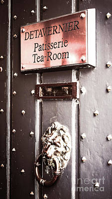 Belguim Wall Art - Photograph - Tea Room Elegance by Lexa Harpell