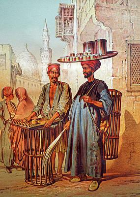 Art Print featuring the photograph Tea Seller by Munir Alawi