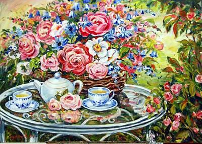Tea Service Art Print by Alexandra Maria Ethlyn Cheshire