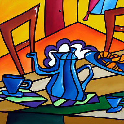 Tea Time - Abstract Pop Art By Fidostudio Art Print by Tom Fedro - Fidostudio