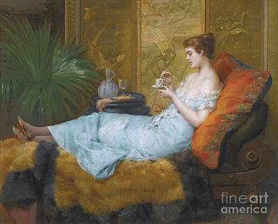 Tea Time Painting - Tea Time by Celestial Images