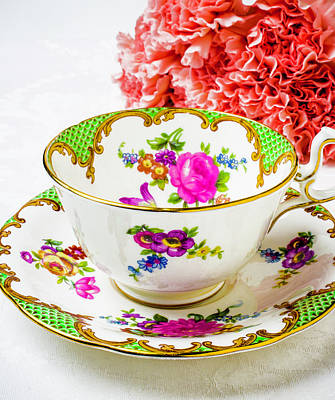 White China Cup Photograph - Tea Time by Garry Gay