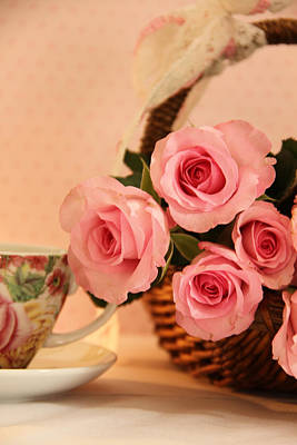 Photograph - Tea Time Roses by Taschja Hattingh