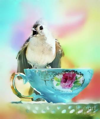 Tufted Titmouse Photograph - Tea Time by Tina LeCour