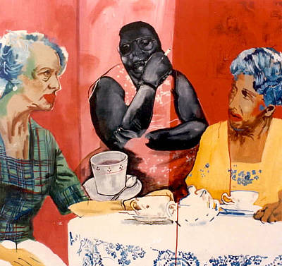 Tea Time Uptown Original by Michael  Singletary