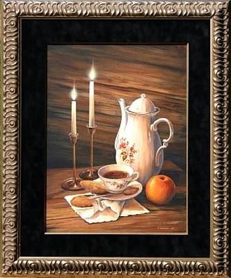 Candel Painting - Tea Time by Varvara Harmon