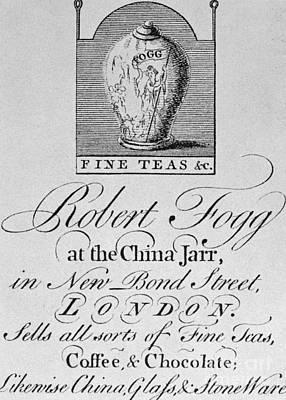 Tea Trade Card, C1770 Art Print