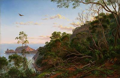 Acquamarine Painting - Tea Trees Near Cape Schanck Victoria by Eugene von Guerard