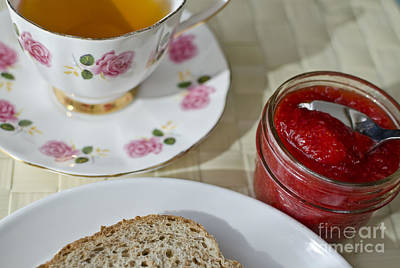 Photograph - Tea With Bread And Jam  by Maria Janicki