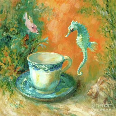 Tea With Davy Jones Original by Theresa Taylor Bayer