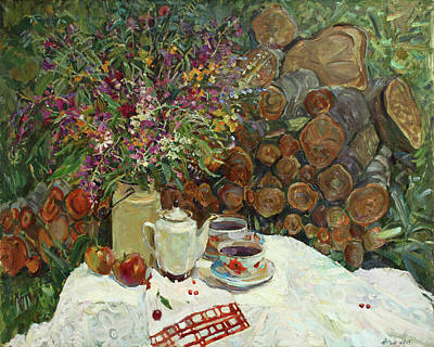 Painting - Tea With Ivan Tea by Juliya Zhukova