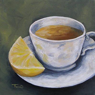 Tea With Lemon Art Print by Torrie Smiley