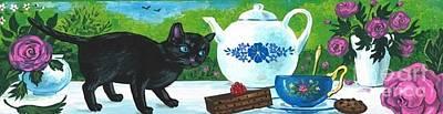 Painting - Tea With The Ladies by Margaryta Yermolayeva